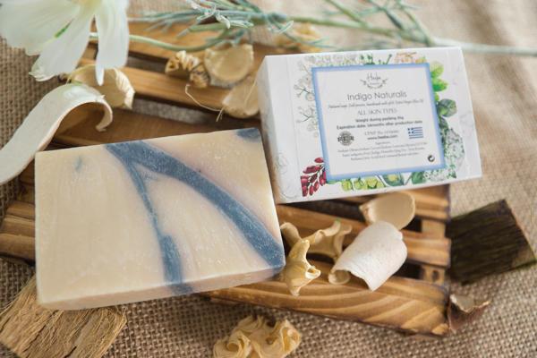 【HEEBE 希臘女神】保護肌膚雙入組   (驢奶橄欖皂*1+青黛橄欖皂*1) 3