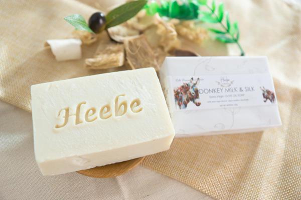 【HEEBE 希臘女神】保護肌膚雙入組   (驢奶橄欖皂*1+青黛橄欖皂*1) 2