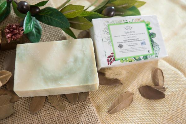 【HEEBE 希臘女神】活力肌膚組  (綠色螺旋藻土橄欖皂*1+摩洛哥薑黃橄欖皂*1) 2