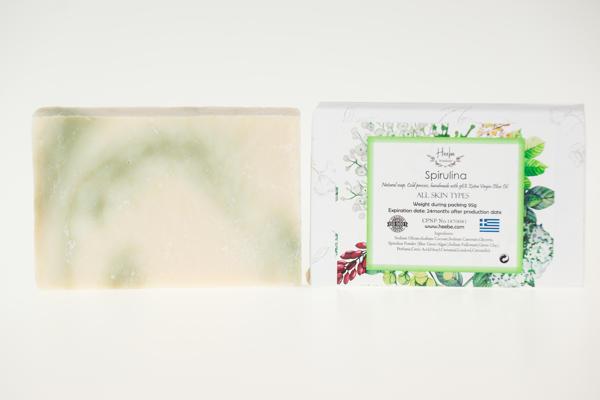 【HEEBE 希臘女神】撫平細紋-綠色螺旋藻土橄欖皂 3